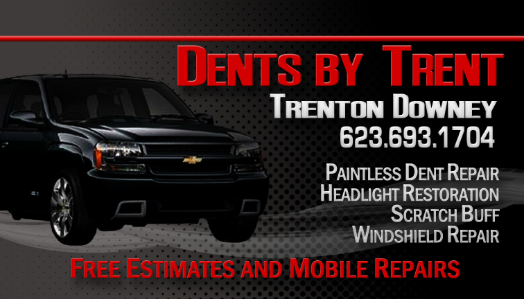 Dents By Trent Business Card