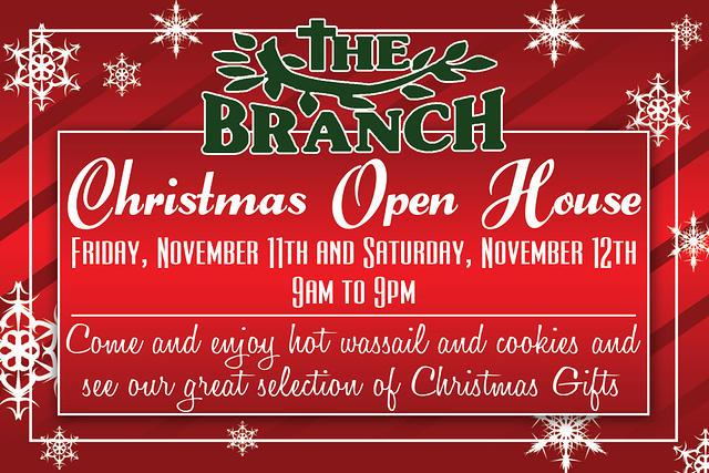 Christmas Open House Postcard