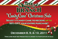 Candy Cane Christmas Sale Postcard